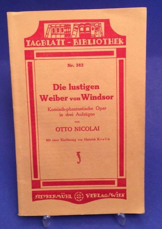 Die lustigen Weiber von Windsor Komisch-phantastische Oper in drei Aufzügen Nico