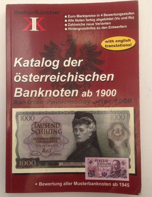 Katalog der österreichischen Banknoten ab 1900 Bewertung aller Musterbanknoten a