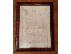 Extract Mondsee Grund Protokoll von 1781 gerahmt 12389