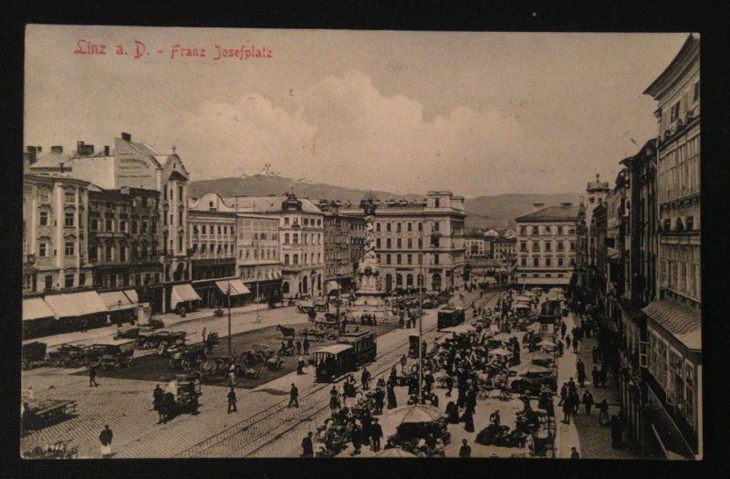 Linz an der Donau Franz Josefsplatz Strassenbahn  10382