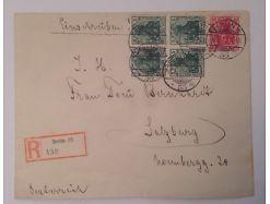 Deutsches Reich Reco Hindenburg Berlin Germania 5 Werte 14008