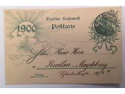 Ganzsache Germania  Deutsche Reichspost B14235
