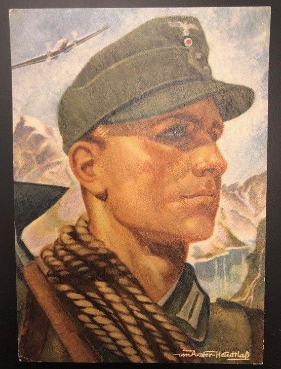 Künstlerkarte Gebirgsjäger Deutsches Reich Wehrmacht 21502