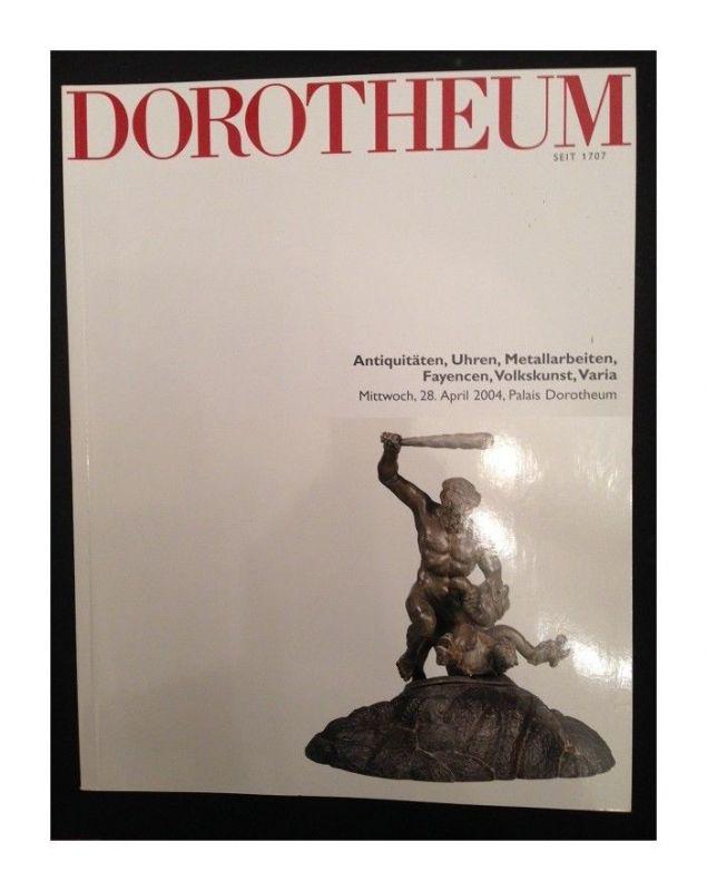 Dorotheum Antiquitäten, Uhren, Metallarbeiten, Fayencen