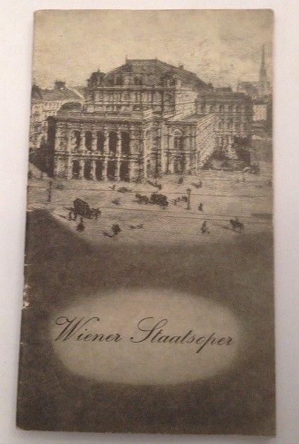 Wiener Staatsoper Programm 1959 Die Zauberflöte