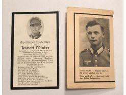 2x Death Card Zirnetschlag Böhmen Verwundeten Abz. Gold EK II 20529
