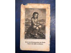Heiligenbildchen von 1873 sign. Eder 11.5 x 7 cm  25097