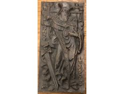 Heiliger Leopold Klosterneuburg  Bronze od. Messing schwer 42 X 21 Cm 25182