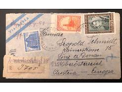 Argentina Argentinien reco Linz Luftpost 1951 25199