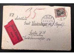 Postablage Beleg Germania Berlin Eilbote 1917 25208