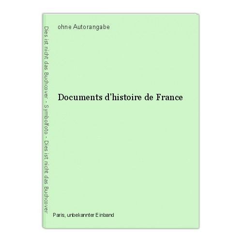 Documents d'histoire de France