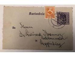 1000 Kronen Ganzsache Kartenbrief Falkenstein 5 Groschen 25246