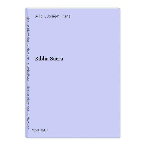 Biblia Sacra Allioli, Joseph Franz: 14662