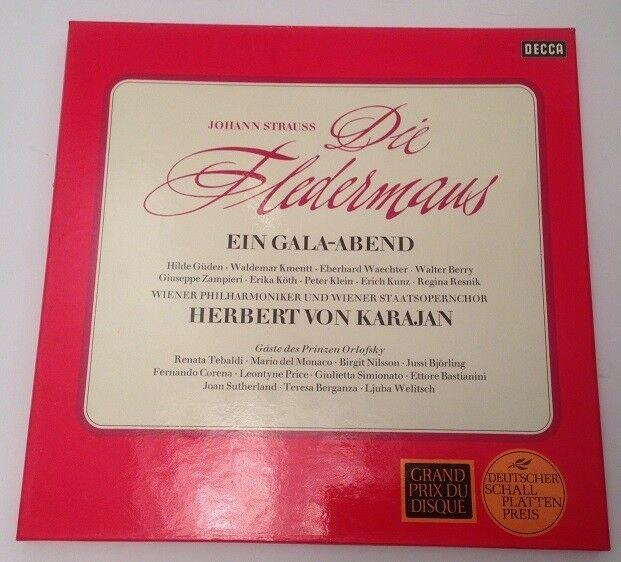 Die Fledermaus Herbert von Karajan Wiener Philharmoniker incl Booklet 3 LP's Str