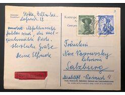 Trachtenbrief Salzburg Durch Eilboten Zell am See  25552
