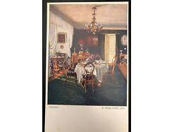 Künstlerkarte Interieur E. Weber Fülop 25589
