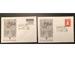 2 x Rossbach Mauerkirchen Briefmarkenwerbeschau 25394