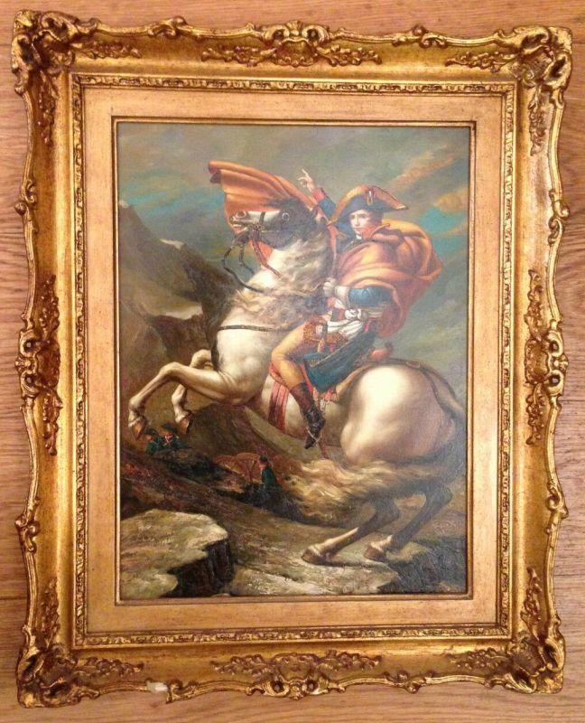 Napoleon Überquerung der Alpen  Biggs & Sons   Ölbild   11620