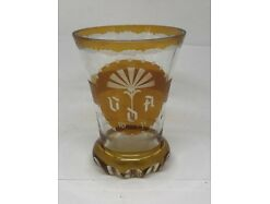 V.D.A. Sockelglas graviert 1938 Winterhilfswerk 11.5 cm unbeschädigt 26039