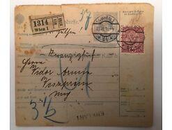 Brief Ganzsache 19 Heller Kais.kon.Stempel 14x13 cm 14544A