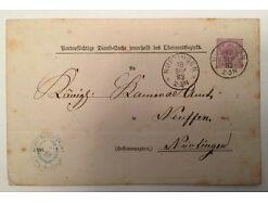 Brief Nürtingen Neußen  cm 18 x 12 A14514