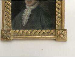 Josef II Freimaurer orig. Rahmen Öl auf Karton 18/19 Jhdt. 17x12 cm m. Rahmen 4