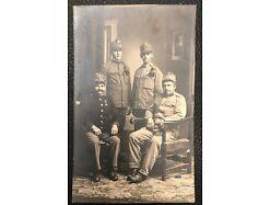 Soldat Gruppen Foto Uniform Abzeichen Karl Hintner 1 Weltkrieg 25288