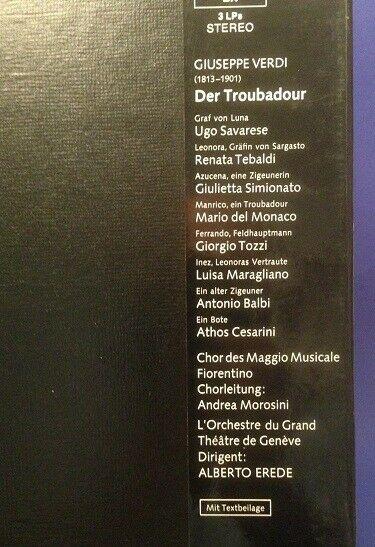 Verdi Der Troubadour Alberto Erede 3 LP Box mit Booklet 1