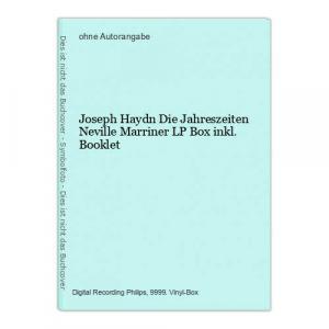 Joseph Haydn Die Jahreszeiten Neville Marriner LP Box inkl. Booklet
