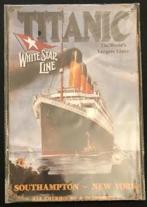 Retro Nostalgie Schild Titanic 30 x 20  30223