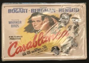 Retro Nostalgie Schild Casablanca 20 x 30  30227