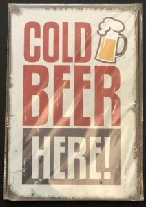 Retro Nostalgie Schild Cold Beer Here Bier 30 x 20 30220