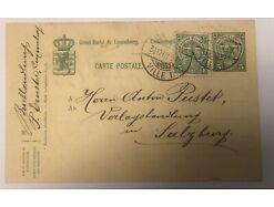 Ganzsache Luxemburg um 1907 Ville 30540
