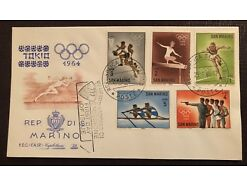 San Marino Olympia Tokio 1964 First Day Erst Tag 25352