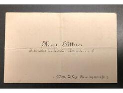 Max Bittner Rat d. Deutschen Ritterordens Visitenkarte