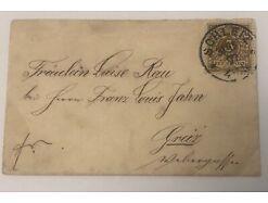 3 Pfennig Deutsches Reich  Schleiz Greiz 10.5 X6.5  cm 30539