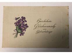 Prägekarte Herzlichen Glückwunsch Zum Geburtstag - Berlin Bahnpost Stempel 31345