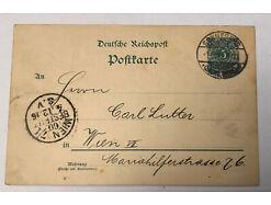 Deutsche Reichspost Ganzsache Sonneberg Wien  31327