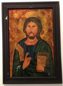 Hinterglas Bild Ikone Jesus 24,5 x 34,5    12085
