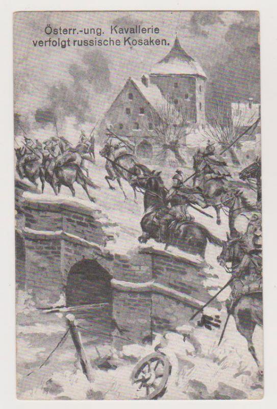 Österreich-ungarische Kavallerie verfolgt russische Kos