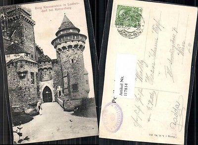 Burg Kreuzenstein bei Korneuburg Eingang 1910