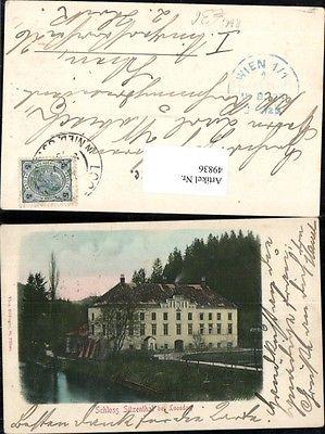 Schloss Sitzenthal bei Loosdorf Melk a.d. Donau seltene Karte