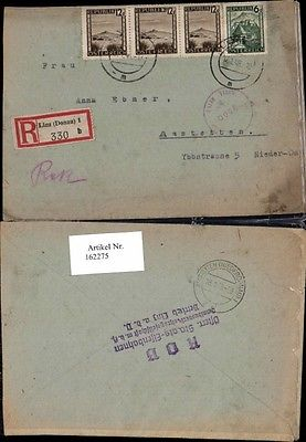 Einschreiben Reko Reco Brief Linz (Donau) 1 - 330 b nach Amstetten