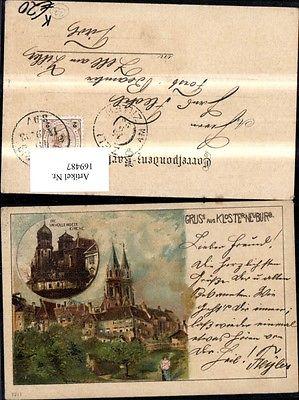 Gruss a. Klosterneuburg Litho sign Rosenberger