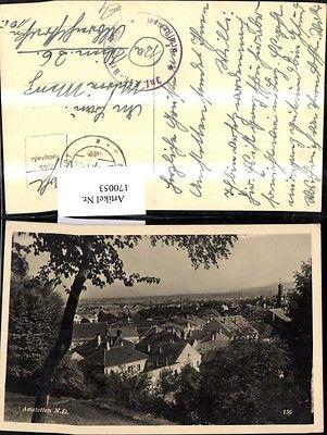 Amstetten 1944 Ansicht m. Baum 0
