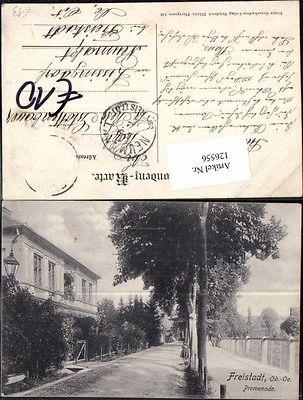 Freistadt Promenade Strassenpartie m. Haus 1915