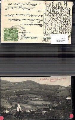 Grafendorf mit Schloss Kirchberg am Walde Steiermark Ansicht 1913