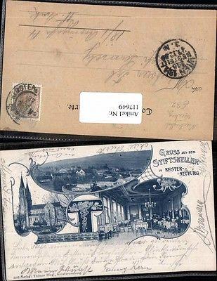Gruss aus Stiftskeller Klosterneuburg sehr seltene AK 1898