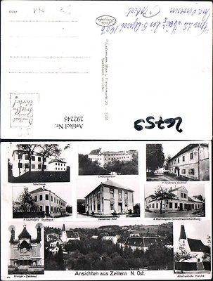 Zeillern Kirche Schule Gasthof Grabner Gayrhofer Kaufhaus Obstmayer Krieg 0