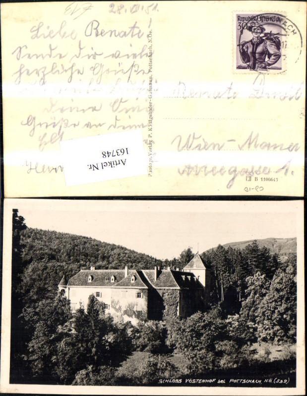 Schloss Vöstenhof b. Pottschach 1951